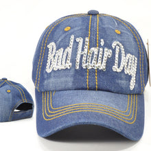 Bad Hair Day Bling Denim Caps