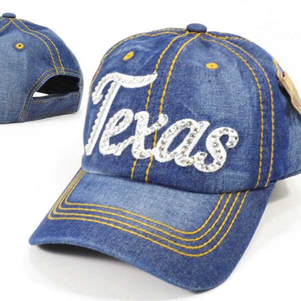 Texas Bling Denim Caps