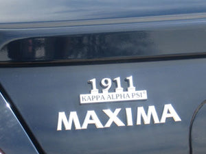 Kappa Alpha Psi Chrome Car Emblems