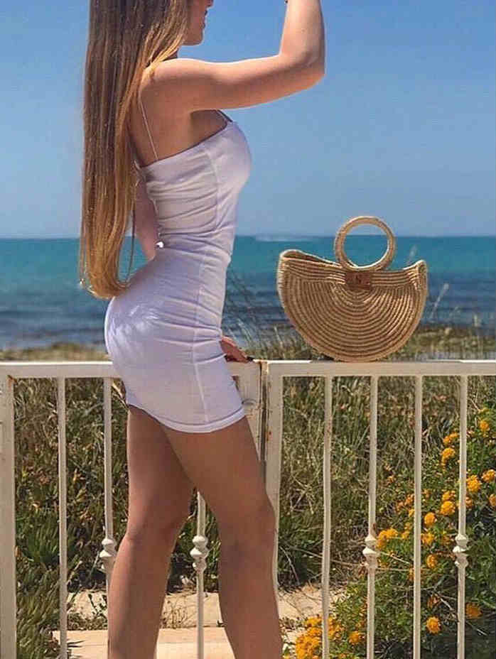Spaghetti Straps Stretch Mini Dress