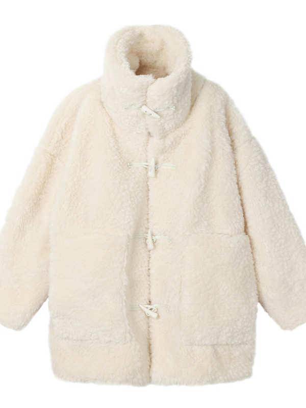 Fashion Winter Warm White Faux Fur Coat