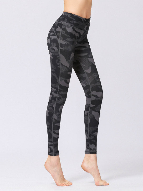Camouflage Printed high-waist tight yoga pants