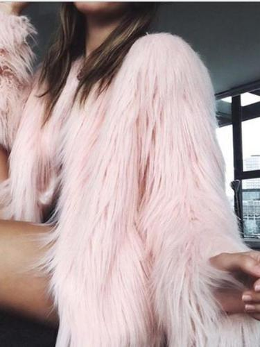 Fashion Never Get Cold Faux Fur Coat