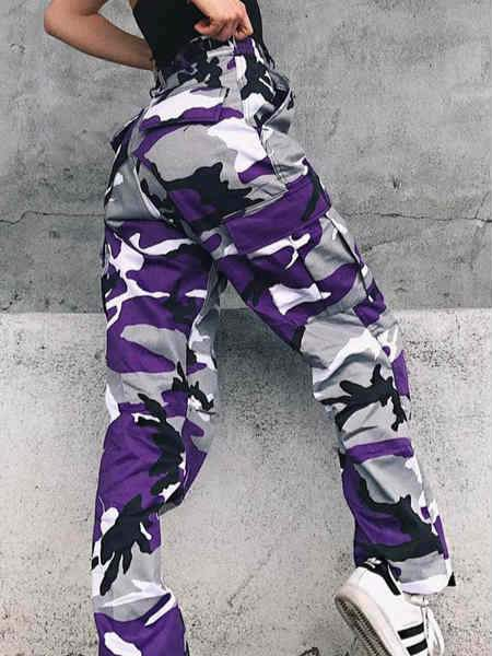 Colorful Everyday Casual Camo Pants