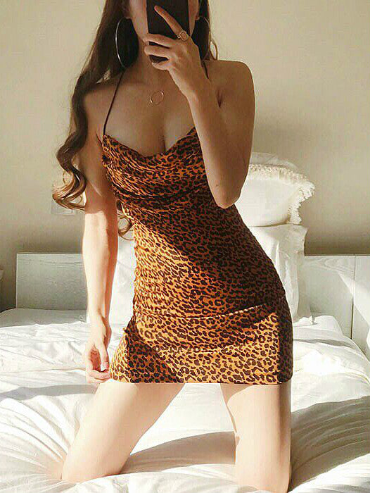 Ruffle Leopard Print Madi Dress