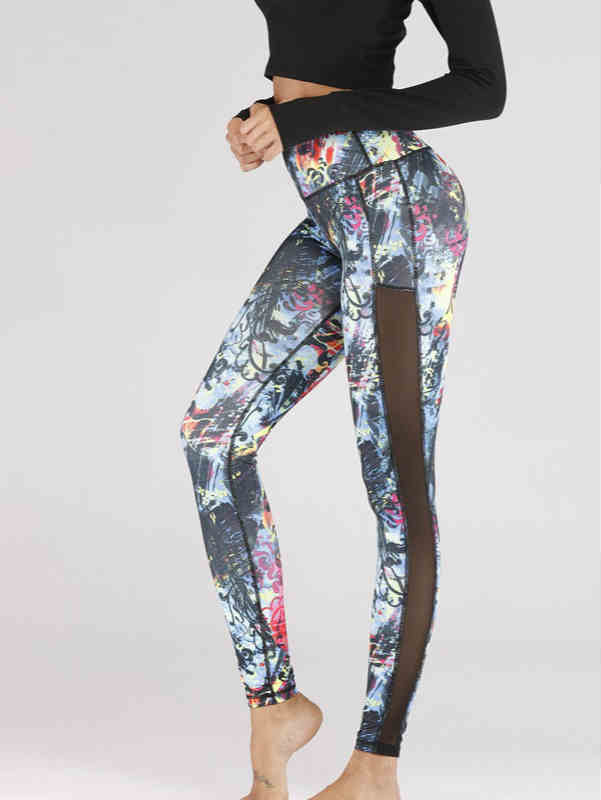 Floral Print Fitness Leggings