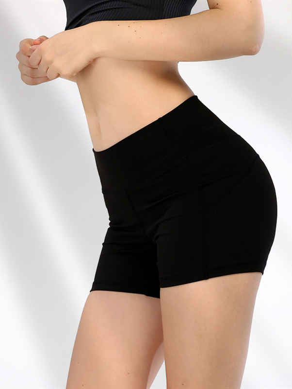 Solid Color Hip-up Sports Shorts