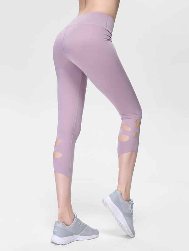 High Waist Ripped Fitness Pants