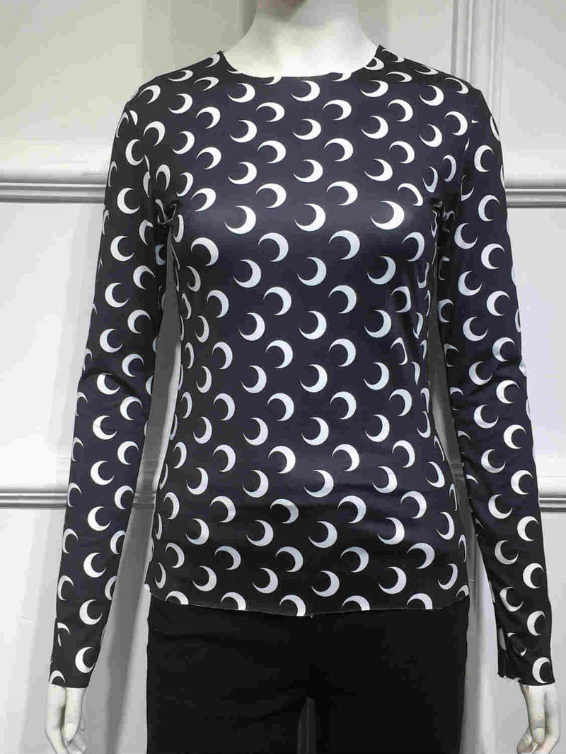 Moon Print Stretch T-shirt