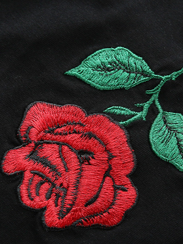 Rose Embroidery Strap Top