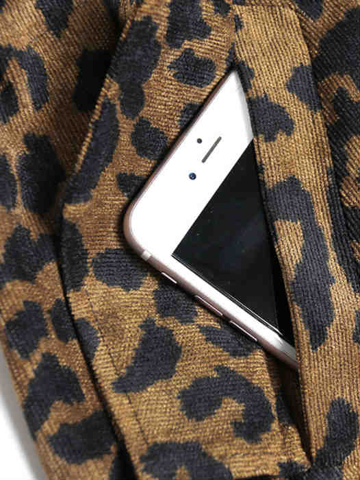 Long British Style Leopard Print Coat and Jacket