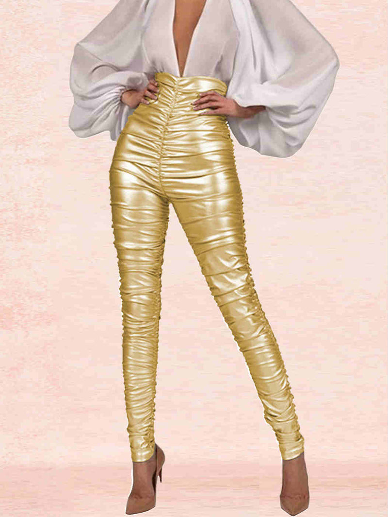 Fall and Winter Sexy Light Reflective Pencil Pants