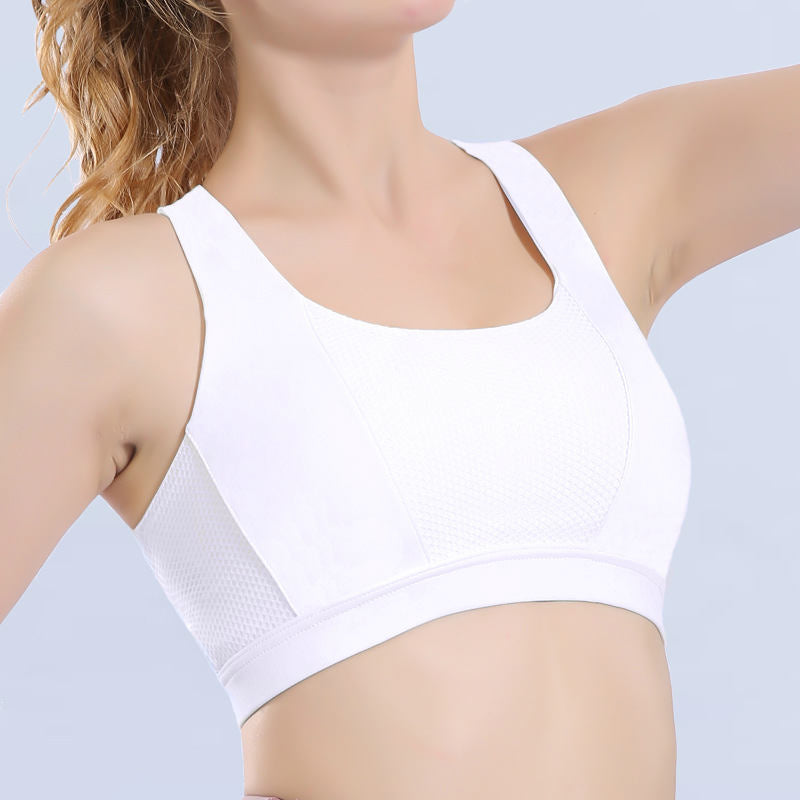 Sports bra shockproof gathered and shaped
