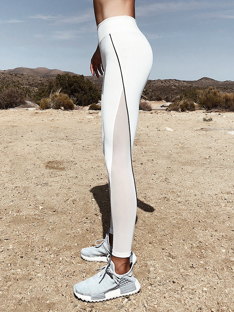 Side Mesh Cutout Legging