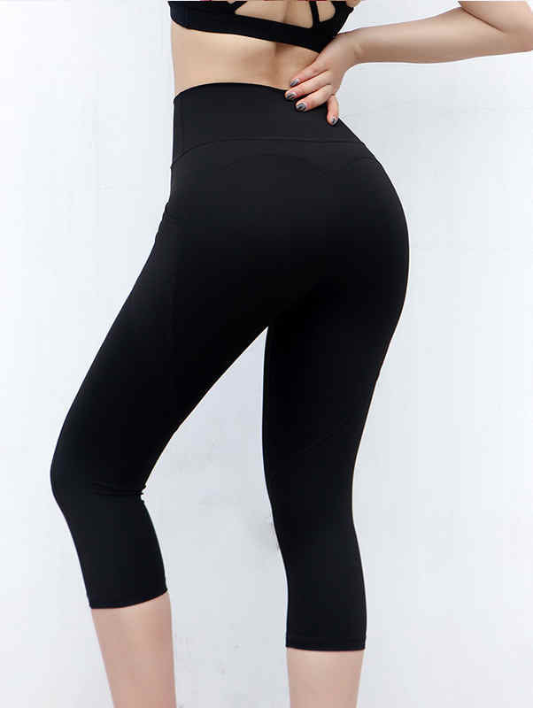 Elastic Breathable Sports Cropped Pants