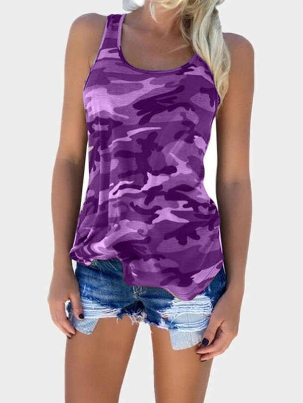 Camo Fashion Sleeveless Tank Top