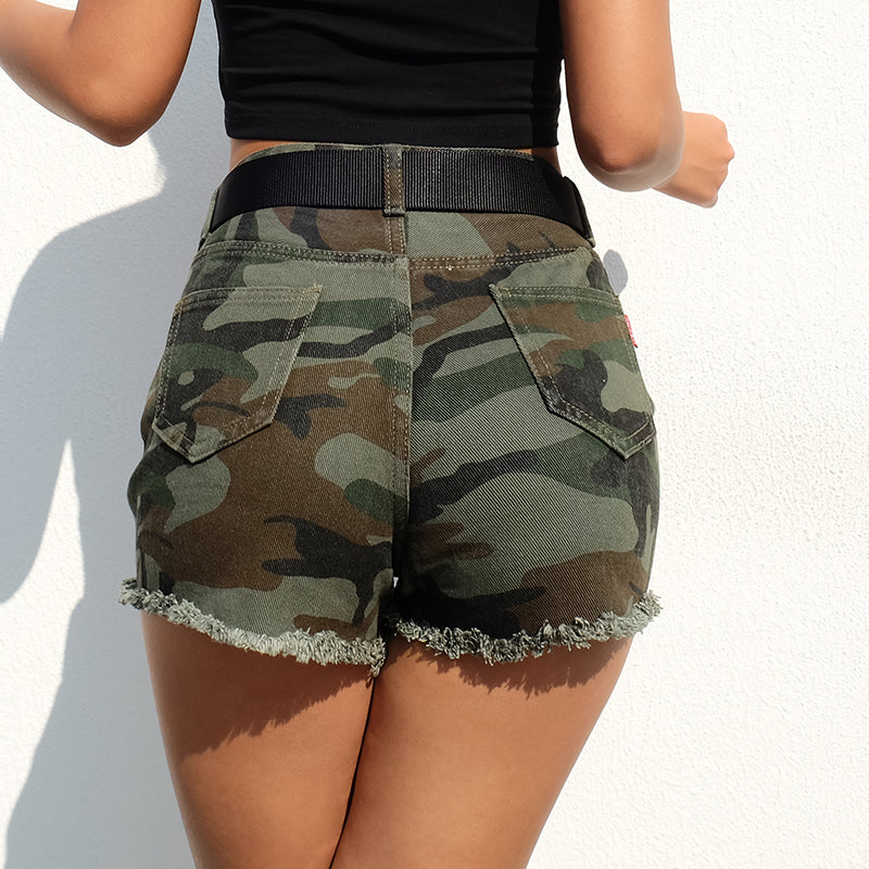 High Waist Camouflage Hot Shorts