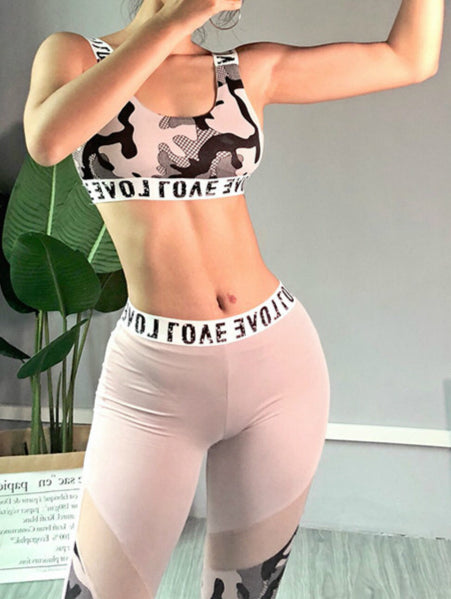 Printing Yoga Suit (Vest and Pants)