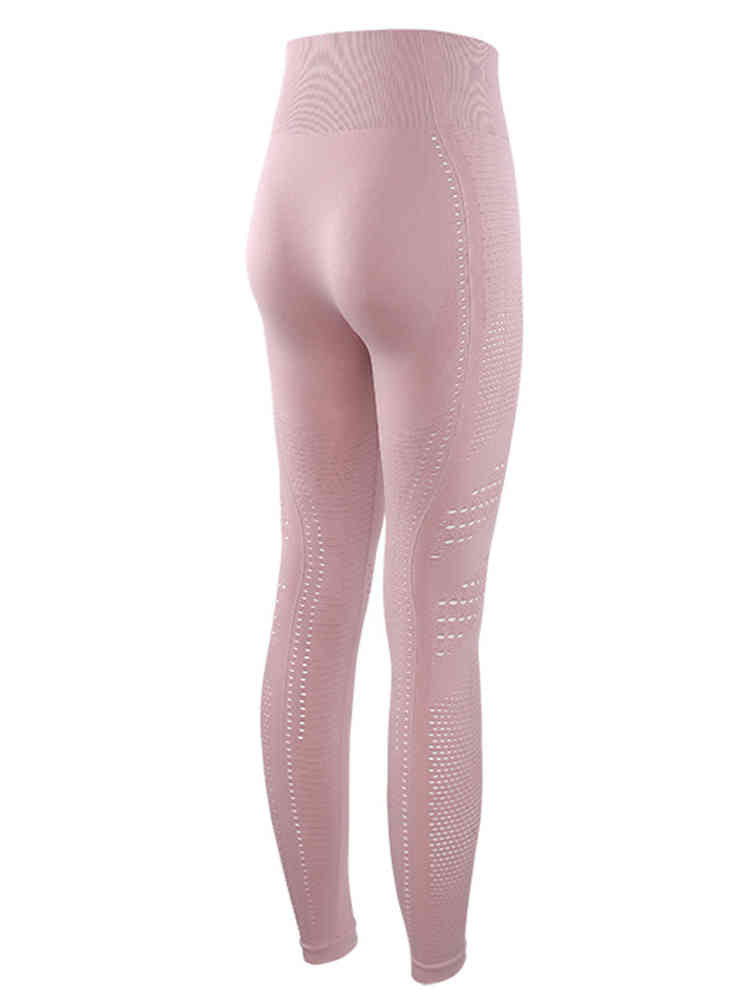 Quick-Drying Hollow Fitness High Waist Leggings