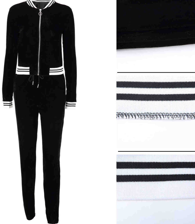 Fall and Winter Velvet Sportswear & Pencil Pants Two Set