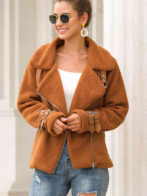 Teddy Color Loose Faux Fur Coat