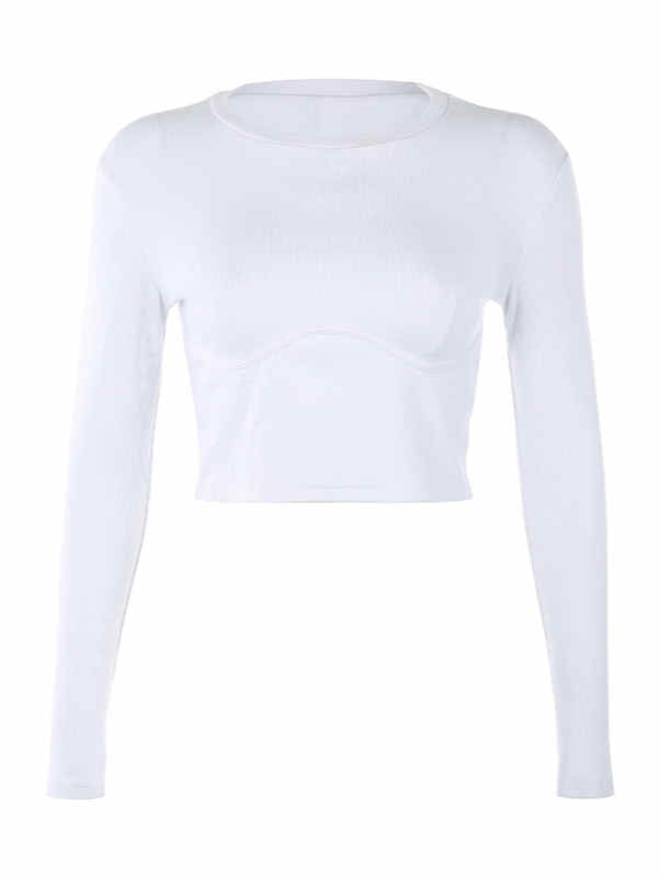 Solid Round Neck T-shirt and Bodysuit