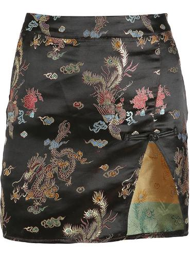 Dragon Pattern Hip Skirt