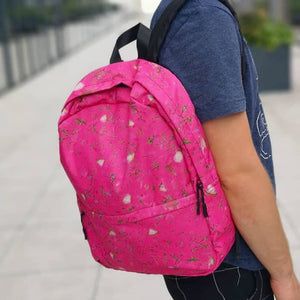 backpack with saltibarsciai pink soup kuprine cold beet soup all over print