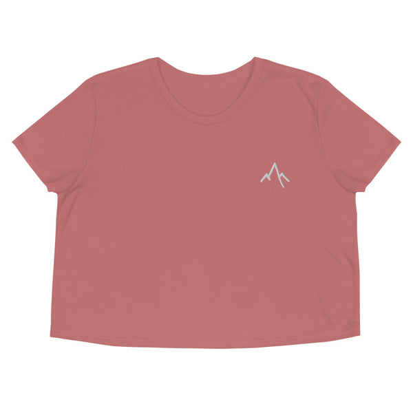 Mountians Embroidered Crop Tee