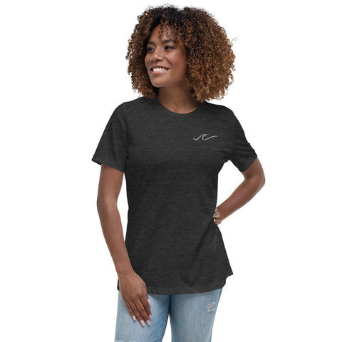 Waves Embroidered Relaxed T-Shirt