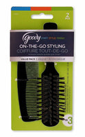 Goody Styling Essentials Goody Brush/Comb, Purse Professional (Pack of 3)
