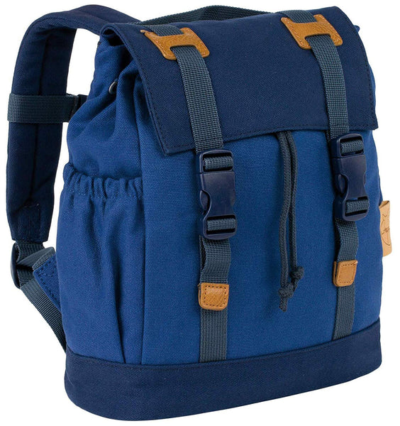 Lassig Kids Vintage Little One & Me Backpack, Small, Blue