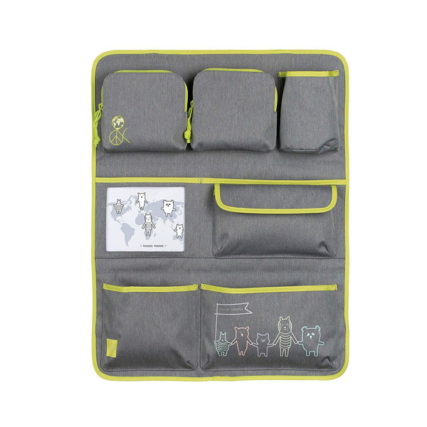 Lassig Kids Car Organizer Wrap-to-Go About Friends Melange, Grey
