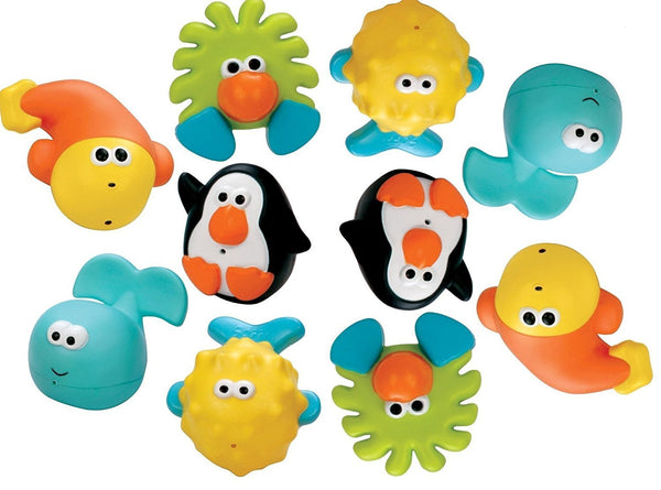 Sassy Bathtime Pals Squirt and Float Toys, 5 Piece Set
