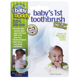 Baby's 1st Toothbrush Teether -  Silicone for Babies and  Toddlers Clear