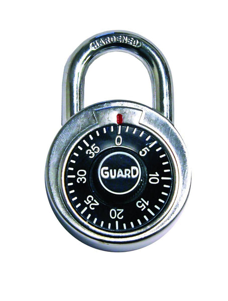 Guard Security 1500 Dial Combination Padlock, 2-Inch