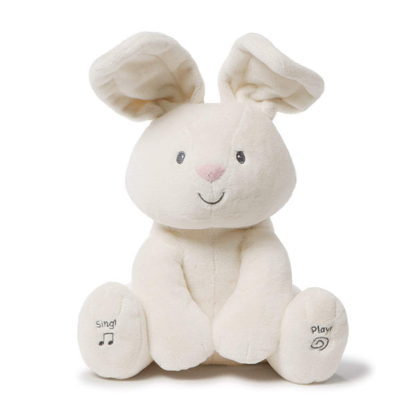 Gund Baby Flora The Bunny Animated Plush Stuffed Animal Toy, Cream, 12""