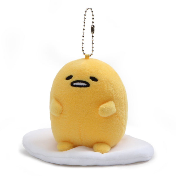 "Gund Gudetama ""Lazy Sitting Pose"" Plush Keychain, 5 Inches, Yellow"