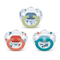 NUK Orthodontic Pacifier, 6-18 Months, Value Pack, 3-pack