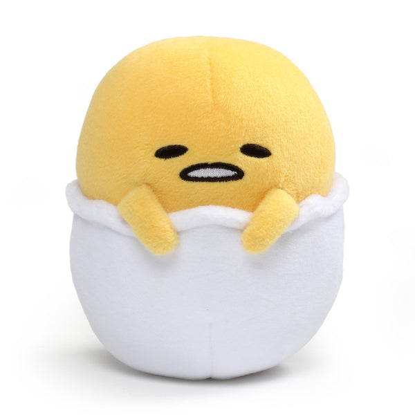 "Gund Gudetama ""Lazy Egg in Eggshell"" Plush, 5 Inches Toy, Yellow"