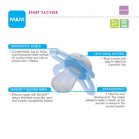 "MAM ""Start  collection""  Girl Pacifiers -Newborn"