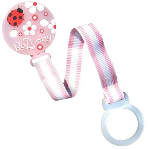 RaZbaby Keep - It - Kleen Pacifier Holder - Pink