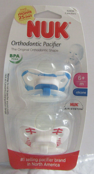 NUK Orthodontic Pacifier 6+ month,silicone, Sport Design