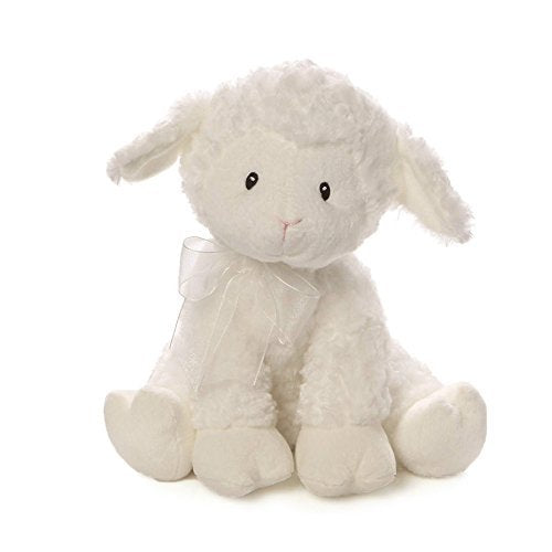 Baby GUND Lena Lamb Musical Stuffed Animal Plush, White, 10""
