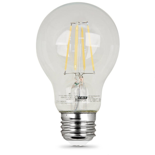 Feit Electric A1960/CL/850/LED/2 60W Equivalent Clear A19 Daylight Dimmable LED Light Bulb (2 Pack)