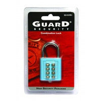 Tactile Push-Button Combination Padlock - Blue
