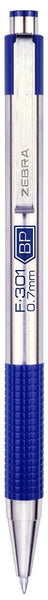 Zebra F-301 Ballpoint Stainless Steel Retractable Pen, Fine Point, 0.7mm, 1-Count