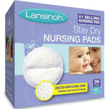 Lansinoh Stay Dry Nursing Pads Medium 36 In Each-choose you count