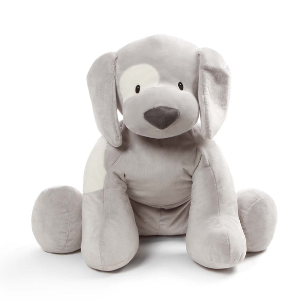 Gund Baby GUND Jumbo Gray Spunky Puppy Baby Stuffed Animal Dog, Gray