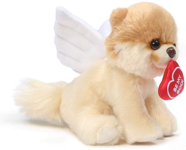 GUND Boo World's Cutest Dog Valentine's Day Cupid Angel Plush Stuffed Animal, 9""